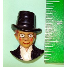 Charlie McCarthy Bakelite Lapel Pin - Larger