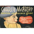 Charlie McCarthy Question and Answer Game