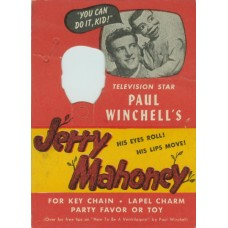 Jerry Mahoney Talking Keychain Original Display Card ONLY