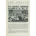 The Oracle Magazine Vol. 13, #4 (July/August 1954) - Louisville Convention cover