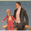 Vintage / Antique Stock Ventriloquist Poster