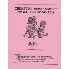 """Creating """"Speaksakes"""" from Throw-Aways book by Clinton Detweiler"""